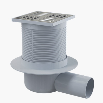 Трап Alca plastСистемы водотведения<br>Тип: трап, Ширина: 105, Длина (мм): 105, Монтаж: пристенный, Материал: нерж.сталь, Форма: квадратная<br>