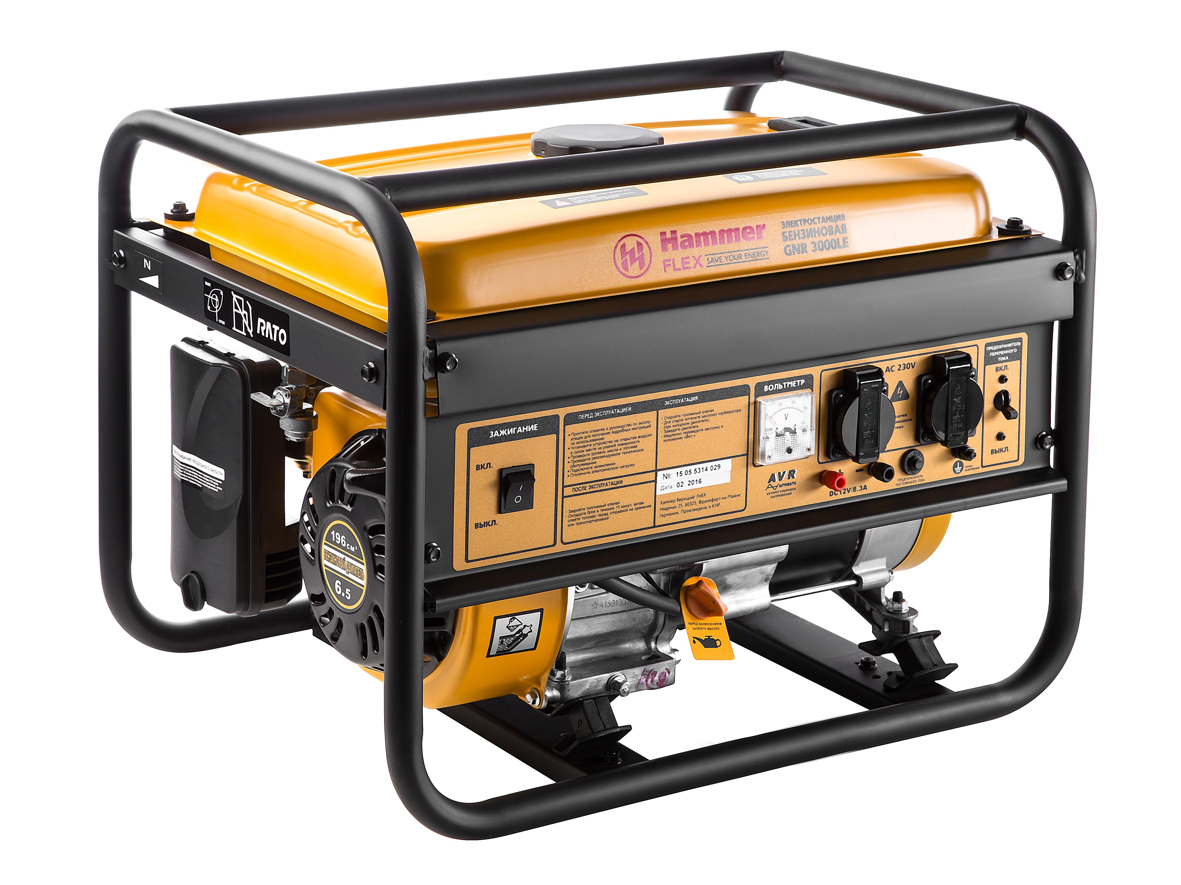 Бензиновый генератор Hammer