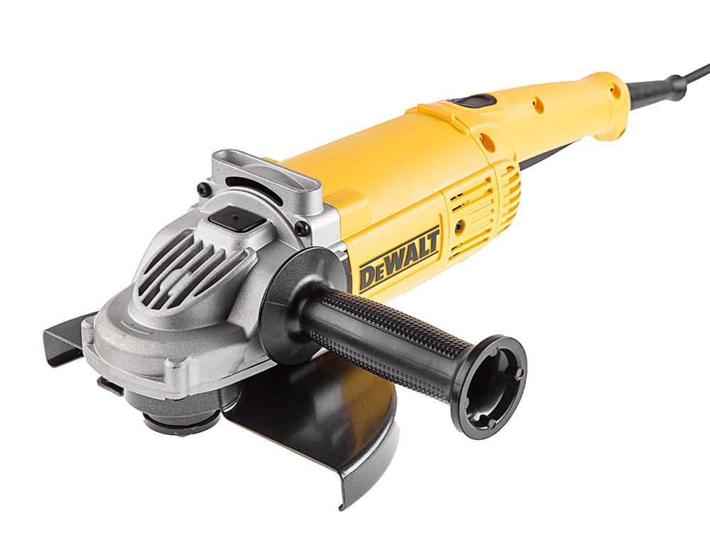 УШМ (болгарка) DewaltМашины углошлифовальные (УШМ)<br>Мощность: 2200,<br>Тип: УШМ,<br>Обороты: 6600,<br>Диаметр круга: 230,<br>Резьба шпинделя: M14,<br>Защита от непреднамеренного пуска: есть,<br>Ограничение пускового тока (плавный пуск): есть,<br>Вес нетто: 5.09999999999999,<br>Поставляется в: коробке<br>