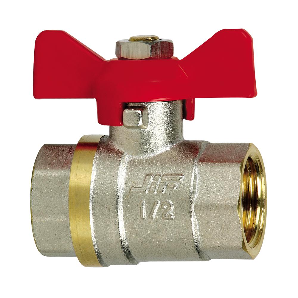 Кран шаровый усиленный JifКраны шаровые<br>Назначение: для воды,<br>Тип трубного соединения: резьба,<br>ДУ: 25,<br>Присоединительный размер: 1  ,<br>Ручка-бабочка: есть<br>