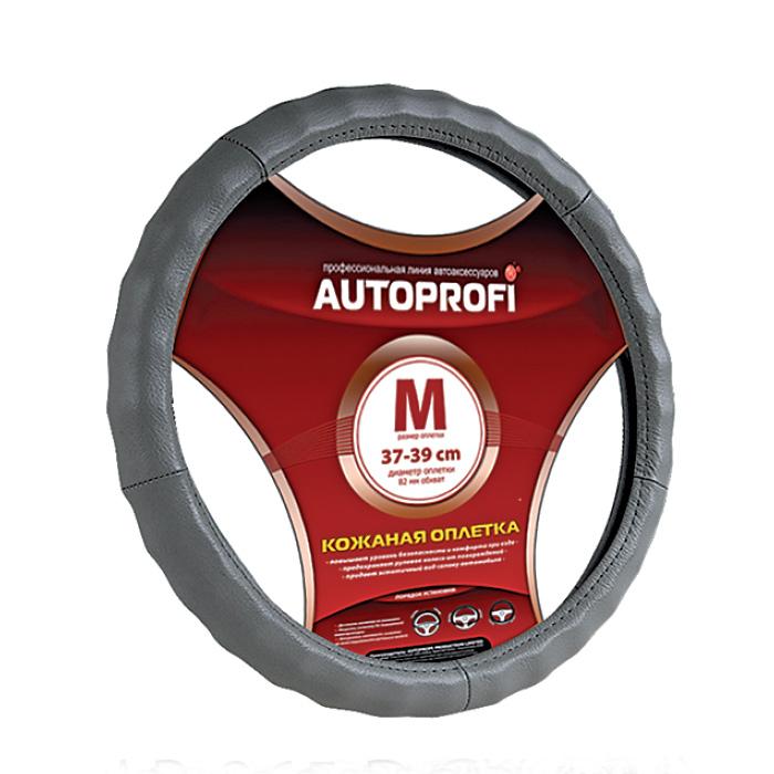 Оплетка AutoprofiОплетки на руль<br>Размер руля: L (40 см), Материал оплетки: кожа<br>