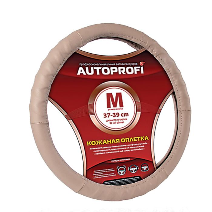 Оплетка AutoprofiОплетки на руль<br>Размер руля: M (38 см),<br>Материал оплетки: кожа<br>