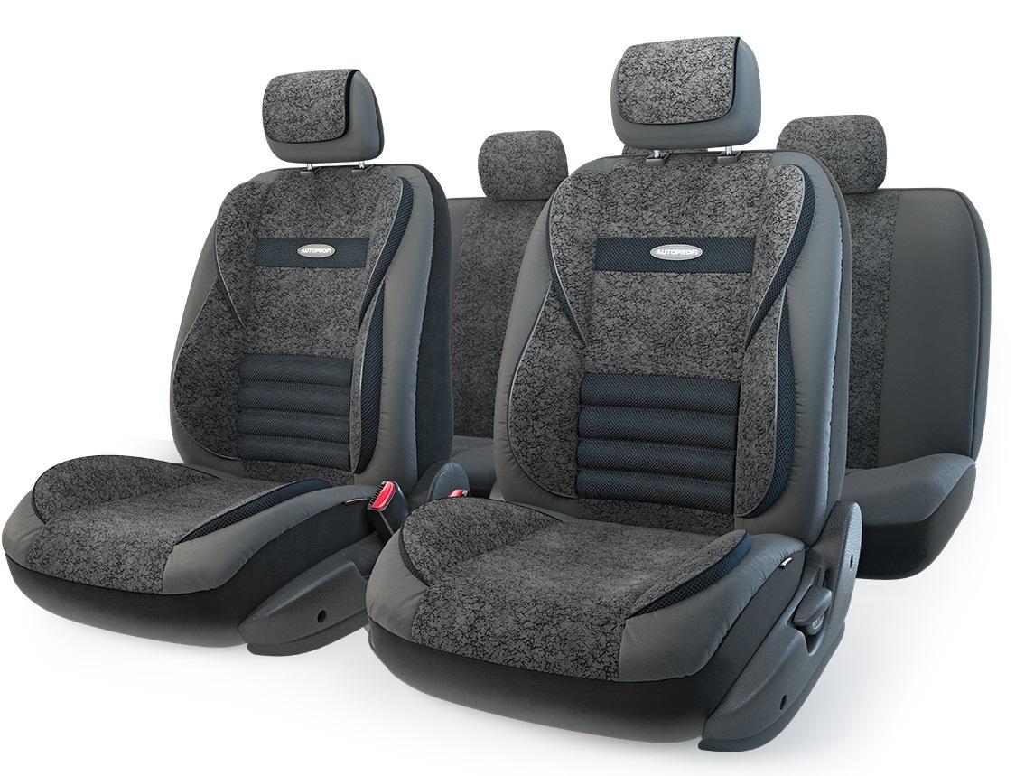 Чехол на сиденье AutoprofiЧехлы на сиденья<br>Тип: чехол,<br>Материал: экокожа/велюр,<br>Цвет: черный<br>