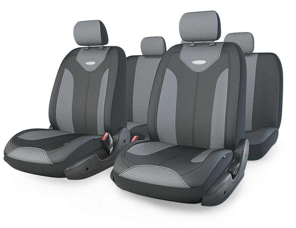 Чехол на сиденье Autoprofi Mtx-1105g bk/d.gy (m)