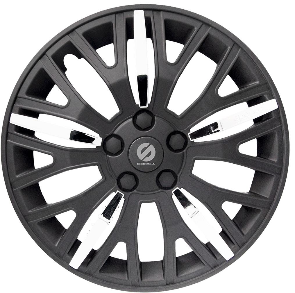 Колпаки на колёса SparcoКолпаки на колёса<br>Диаметр колес: 15,<br>Размер колес: 370,<br>Цвет: черный/хром<br>