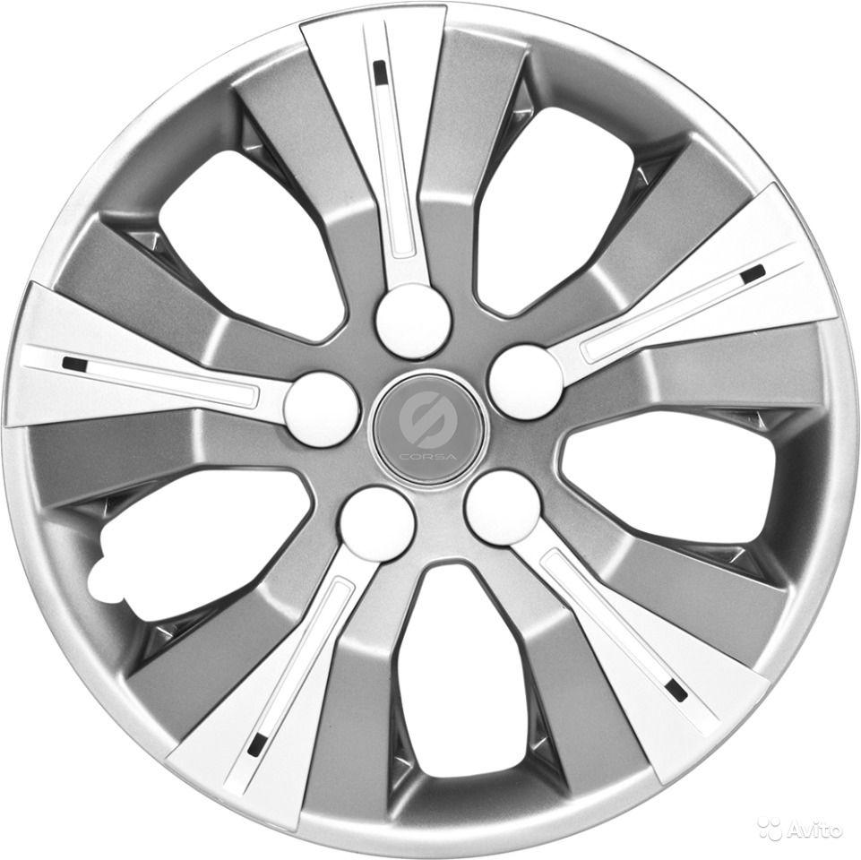 Колпаки на колёса SparcoКолпаки на колёса<br>Диаметр колес: 13, Размер колес: 325, Цвет: серый/хром<br>