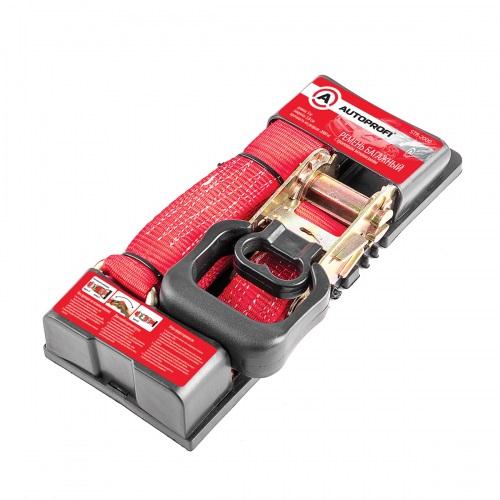 Ремень AutoprofiКрепления для багажа<br>Тип: ремень,<br>Максимальная нагрузка: 2000,<br>Размеры: 5000х38,<br>Длина (мм): 5000,<br>Ширина: 38,<br>Цвет: красный<br>