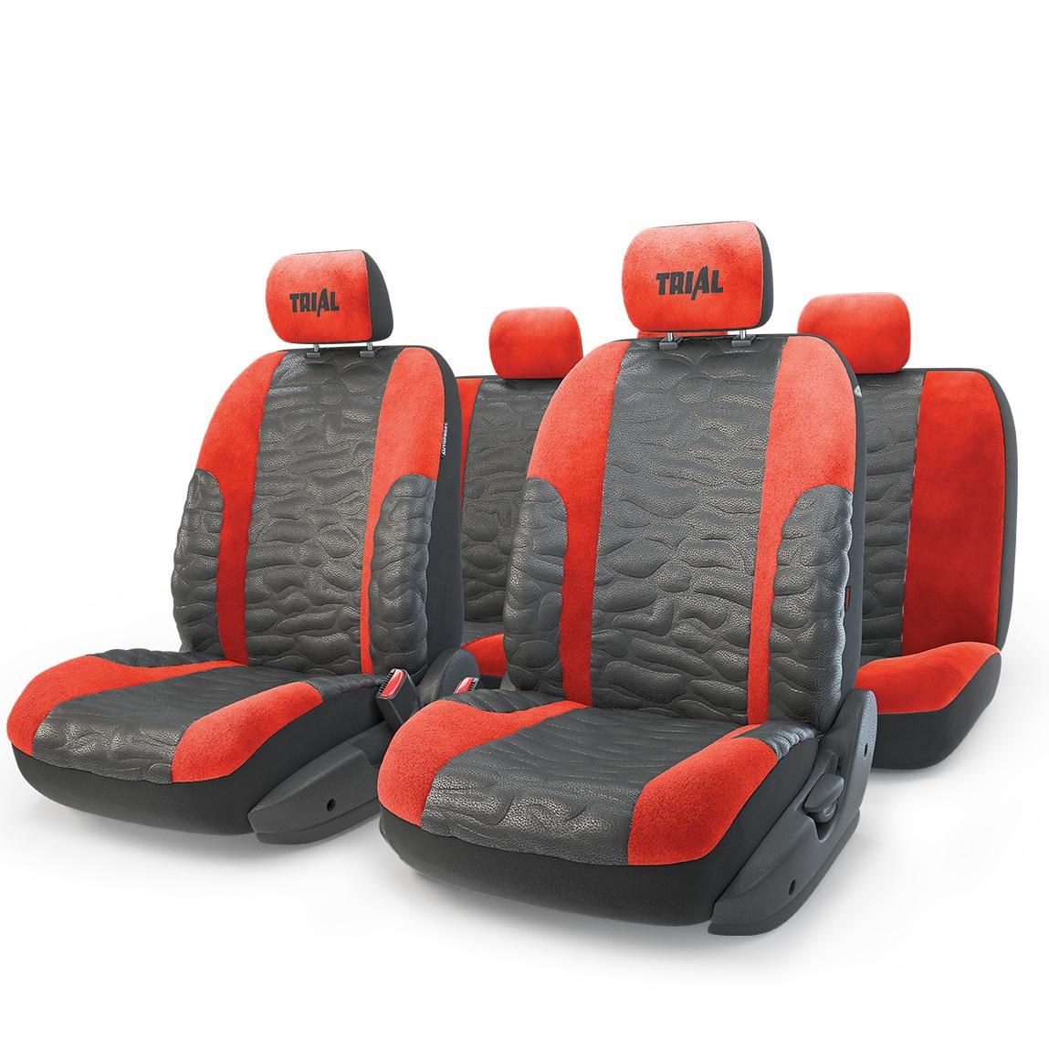 Чехол на сиденье AutoprofiЧехлы на сиденья<br>Тип: чехол,<br>Материал: имитация кожи/алькантара,<br>Цвет: черный/красный<br>