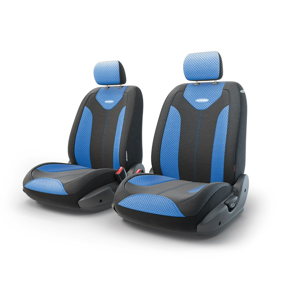 Чехол на сиденье AutoprofiЧехлы на сиденья<br>Тип: чехол,<br>Материал: экокожа,<br>Цвет: черный/синий<br>