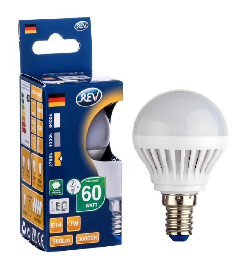 Лампа светодиодная Rev ritterЛампы<br>Тип лампы: светодиодная,<br>Форма лампы: свеча,<br>Цвет колбы: белая,<br>Тип цоколя: Е14,<br>Напряжение: 220,<br>Мощность: 7,<br>Цветовая температура: 2700,<br>Цвет свечения: теплый<br>