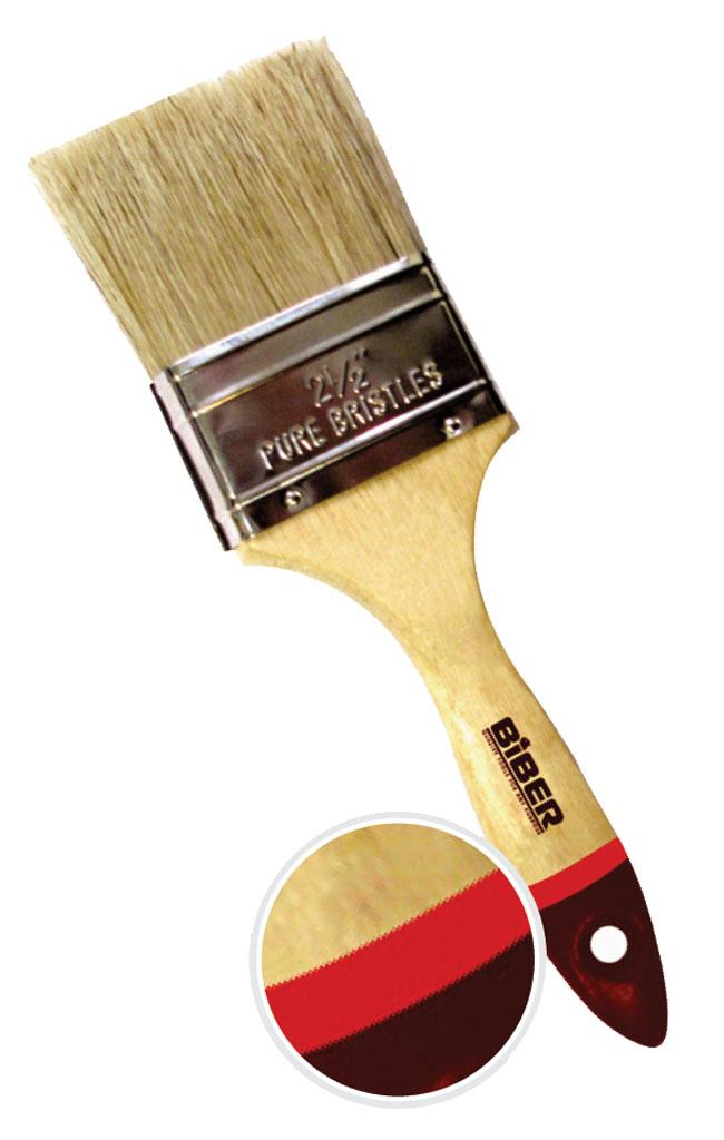Кисть флейцевая BiberКисти малярные<br>Тип кисти: плоская,<br>Щетина: натуральная,<br>Ширина: 25.4,<br>Материал рукоятки: древесина<br>
