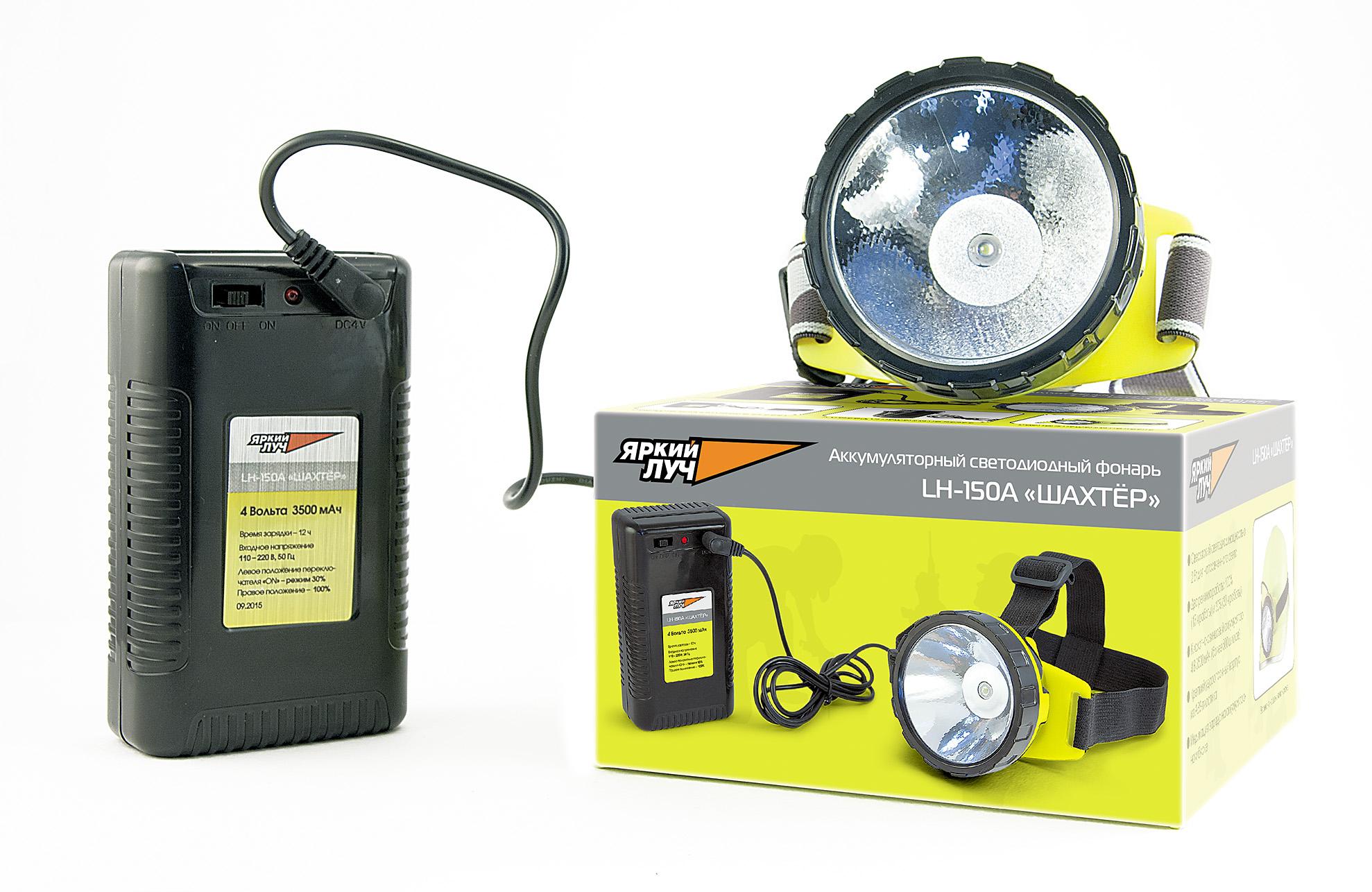 Фонарь ЯРКИЙ ЛУЧФонари<br>Источники питания: аккумулятор,<br>Тип аккумулятора: LiION,<br>Аккумулятор: 4,<br>Емкость аккумулятора: 3500,<br>Количество ламп: 1,<br>Тип лампы: светодиодная,<br>Тип: налобный,<br>Продолжительность работы: 30<br>