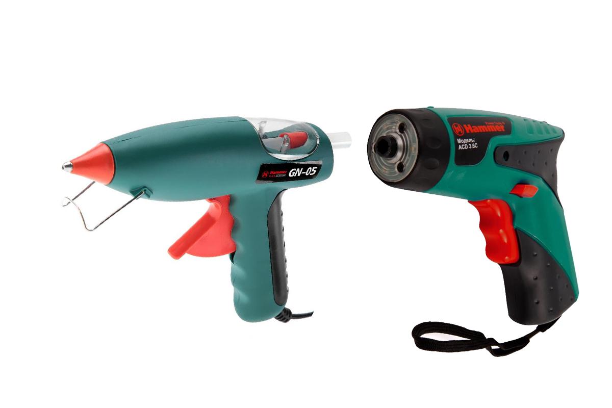 Набор: Отвертка аккумуляторная Hammer