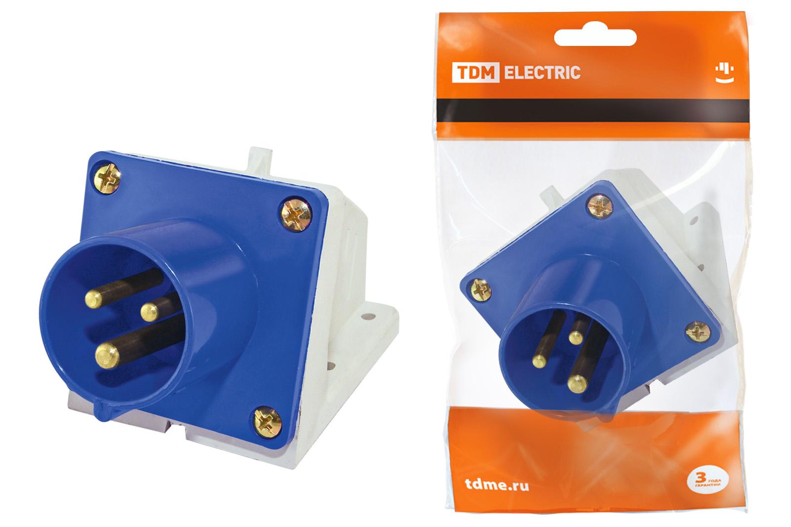 Вилка кабельная ТДМСиловые разъемы<br>Тип изделия: вилка, Напряжение: 220, Способ монтажа: переносная, Сила тока: 16, Количество контактов: 3, Заземление: есть, Степень защиты от пыли и влаги: IP 44, Цвет: синий<br>
