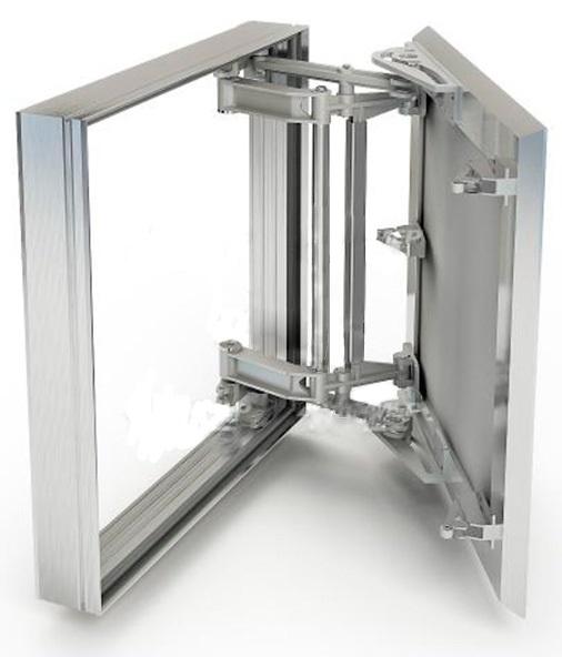 Люк ХАММЕРРевизионные и сантехнические люки<br>Тип покрытия: под плитку, Ширина: 500, Высота: 600, Материал: алюминий, Метод открывания: распашная дверца, Схема открывания: распашная дверца, Материал петли: сталь, Количество створок: одностворчатый<br>