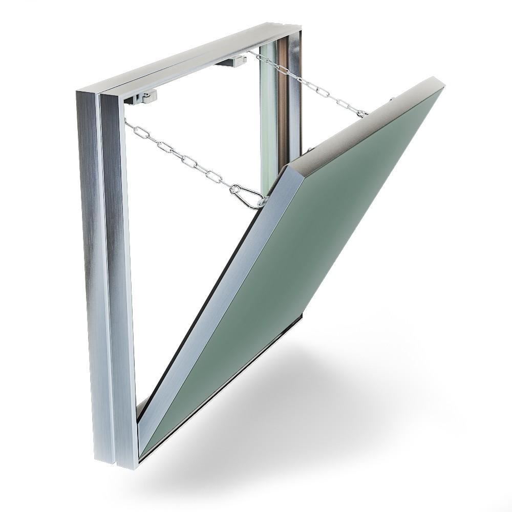 Люк ХАММЕРРевизионные и сантехнические люки<br>Тип покрытия: под плитку,<br>Ширина: 300,<br>Высота: 500,<br>Материал: алюминий,<br>Метод открывания: съемная дверца,<br>Схема открывания: съемная дверца,<br>Количество створок: одностворчатый<br>