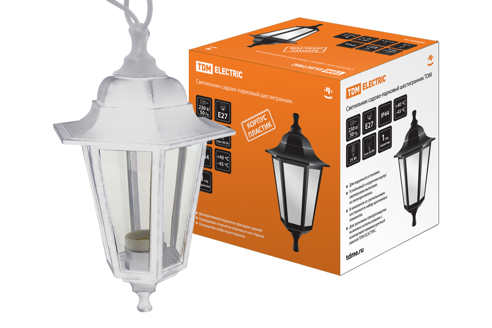Светильник уличный ТДМСветильники уличные<br>Мощность: 60,<br>Тип установки: настенный,<br>Стиль светильника: классика,<br>Материал светильника: полипропилен,<br>Количество ламп: 1,<br>Патрон: Е27,<br>Степень защиты от пыли и влаги: IP 44,<br>Цвет арматуры: белый<br>