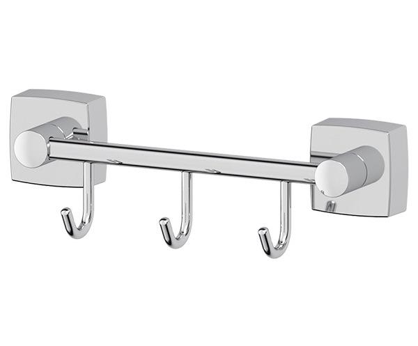 Крючок FbsАксессуары для ванной комнаты<br>Назначение аксессуара: крючок,<br>Цвет покрытия: хром,<br>Материал: металл,<br>Высота: 59,<br>Ширина: 192,<br>Глубина: 55,<br>Способ крепления: на стену<br>