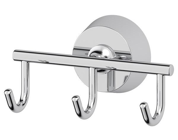 Крючок FbsАксессуары для ванной комнаты<br>Назначение аксессуара: крючок,<br>Цвет покрытия: хром,<br>Материал: металл,<br>Высота: 56,<br>Ширина: 105,<br>Глубина: 55,<br>Способ крепления: на стену<br>