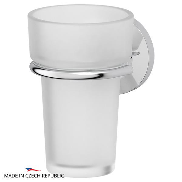 Стакан FbsАксессуары для ванной комнаты<br>Назначение аксессуара: стакан,<br>Цвет покрытия: хром,<br>Материал: металл,<br>Высота: 118,<br>Ширина: 79,<br>Глубина: 99,<br>Способ крепления: на стену<br>