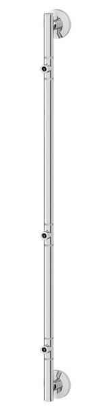 Штанга FbsАксессуары для ванной комнаты<br>Назначение аксессуара: штанга, Цвет покрытия: хром, Материал: металл, Высота: 819, Глубина: 63, Способ крепления: на стену<br>