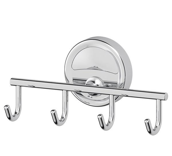 Крючок FbsАксессуары для ванной комнаты<br>Назначение аксессуара: крючок, Цвет покрытия: хром, Материал: металл, Высота: 75, Ширина: 150, Глубина: 50, Способ крепления: на стену<br>