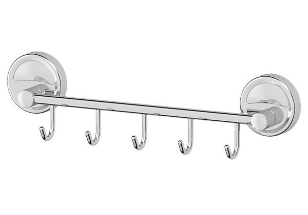 Крючок FbsАксессуары для ванной комнаты<br>Назначение аксессуара: крючок, Цвет покрытия: хром, Материал: металл, Высота: 81, Ширина: 310, Глубина: 50, Способ крепления: на стену<br>