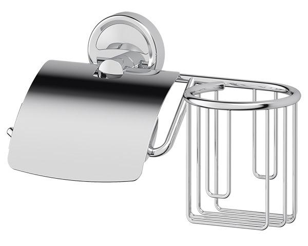 Держатель FbsДержатели для ванной комнаты<br>Назначение: для туалетной бумаги,<br>Цвет покрытия: хром,<br>Материал: металл,<br>Способ крепления: на стену,<br>Высота: 138,<br>Ширина: 241,<br>Глубина: 111<br>