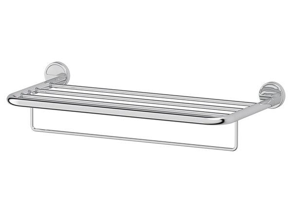 Полка FbsАксессуары для ванной комнаты<br>Назначение аксессуара: полка,<br>Цвет покрытия: хром,<br>Материал: металл,<br>Высота: 132,<br>Ширина: 600,<br>Глубина: 272,<br>Способ крепления: на стену<br>