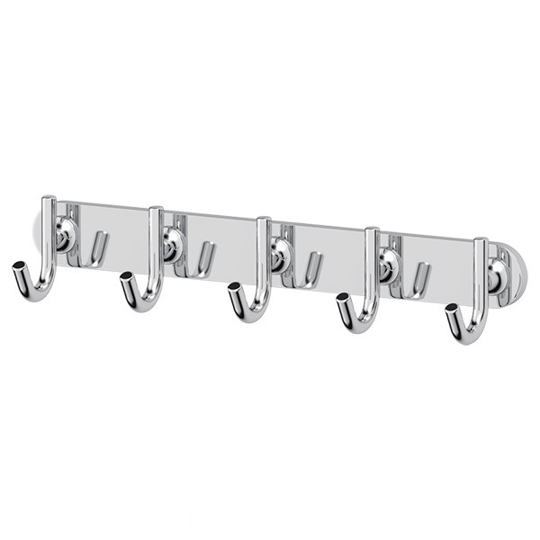 Крючок ElluxАксессуары для ванной комнаты<br>Назначение аксессуара: крючок, Цвет покрытия: хром, Материал: металл, Высота: 47, Ширина: 250, Глубина: 55, Способ крепления: на стену<br>