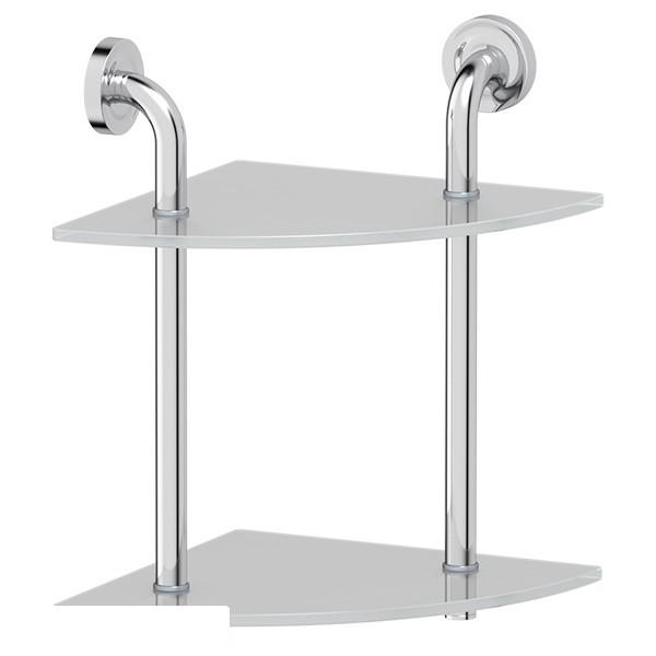 Полка ElluxАксессуары для ванной комнаты<br>Назначение аксессуара: полка,<br>Цвет покрытия: хром,<br>Материал: металл,<br>Высота: 380,<br>Ширина: 261,<br>Глубина: 261,<br>Способ крепления: на стену<br>