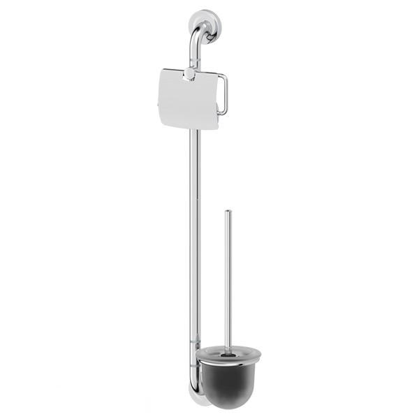 Штанга ElluxАксессуары для ванной комнаты<br>Назначение аксессуара: штанга,<br>Цвет покрытия: хром,<br>Материал: металл,<br>Высота: 718,<br>Ширина: 198,<br>Глубина: 118,<br>Способ крепления: на стену<br>