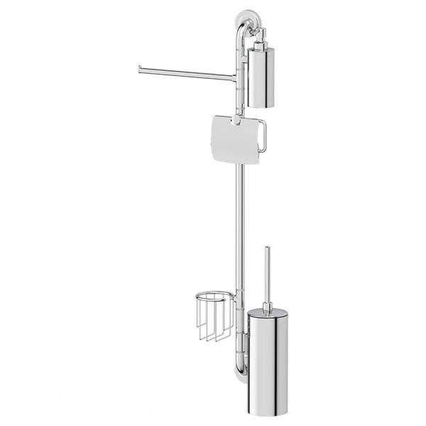 Штанга ElluxАксессуары для ванной комнаты<br>Назначение аксессуара: штанга,<br>Цвет покрытия: хром,<br>Материал: металл,<br>Высота: 900,<br>Ширина: 367,<br>Глубина: 91,<br>Способ крепления: на стену<br>