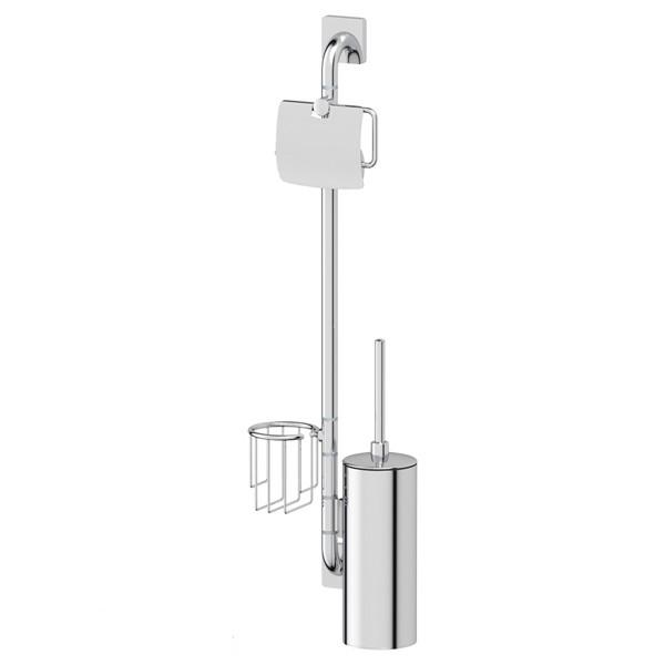 Штанга ElluxАксессуары для ванной комнаты<br>Назначение аксессуара: штанга,<br>Цвет покрытия: хром,<br>Материал: металл,<br>Высота: 766,<br>Ширина: 222,<br>Глубина: 92,<br>Способ крепления: на стену<br>