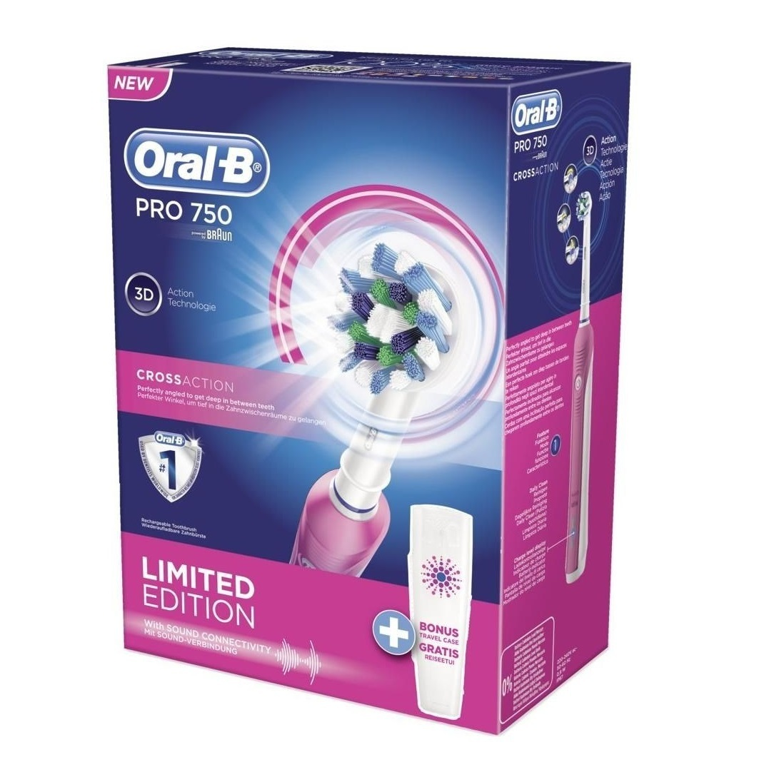 ������ ����� Oral-b 750/d16.513.ux cross action pink