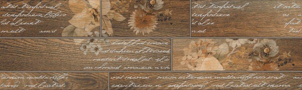 Декор керамический InterceramaКерамическая плитка<br>Коллекция: DREAM,<br>Тип: декор,<br>Место укладки: пол,<br>Назначение плитки: для кухни, коридора,<br>Рисунок: дерево,<br>Цвет: коричневый,<br>Поверхность: матовая,<br>Размер плитки: 150х500,<br>Толщина: 9.5,<br>Страна происхождения: Украина,<br>Количество в упаковке: 14<br>