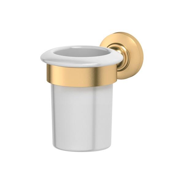 Стакан 3scАксессуары для ванной комнаты<br>Назначение аксессуара: стакан,<br>Цвет покрытия: золото,<br>Материал: металл,<br>Высота: 104,<br>Глубина: 136,<br>Способ крепления: на стену<br>
