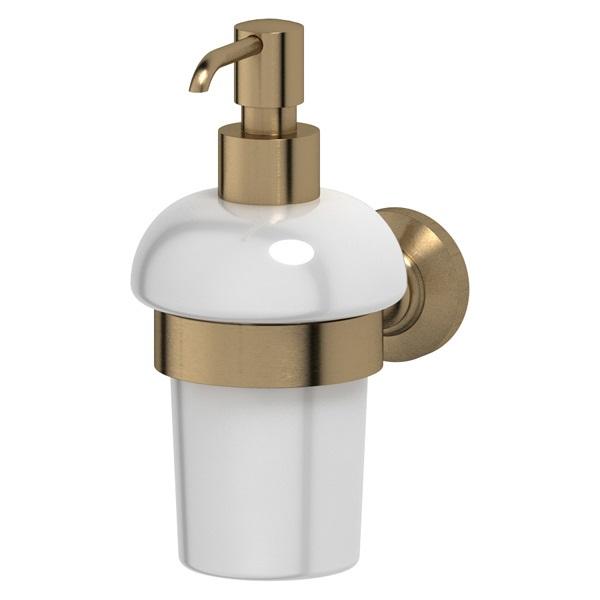 Дозатор для жидкого мыла 3scДиспенсеры<br>Назначение: для жидкого мыла,<br>Цвет покрытия: бронза,<br>Материал: металл,<br>Высота: 174,<br>Глубина: 146,<br>Способ крепления: на стену<br>