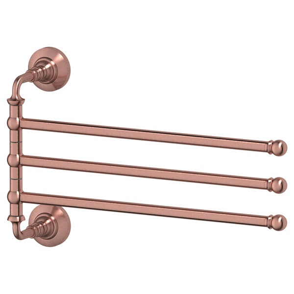 Полотенцедержатель 3scДержатели для ванной комнаты<br>Назначение: для полотенца,<br>Цвет покрытия: медь,<br>Материал: металл,<br>Способ крепления: на стену,<br>Высота: 223,<br>Ширина: 351,<br>Глубина: 94<br>