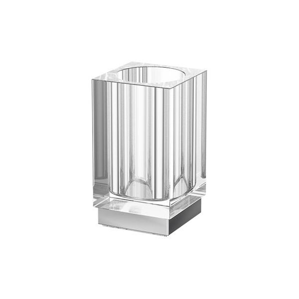 Стакан LineagАксессуары для ванной комнаты<br>Назначение аксессуара: стакан,<br>Цвет покрытия: хром,<br>Материал: металл,<br>Высота: 117,<br>Ширина: 65,<br>Способ крепления: на стену<br>