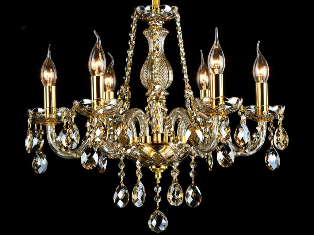 Люстра Maytoni - MaytoniЛюстры<br>Назначение светильника: для гостиной,<br>Стиль светильника: классика,<br>Тип: подвесная,<br>Материал светильника: металл, стекло,<br>Материал арматуры: металл,<br>Диаметр: 530,<br>Высота: 480,<br>Количество ламп: 6,<br>Тип лампы: накаливания,<br>Мощность: 60,<br>Патрон: Е14,<br>Цвет арматуры: золото<br>