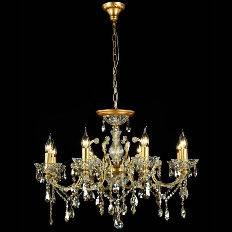 Люстра MaytoniЛюстры<br>Назначение светильника: для гостиной,<br>Стиль светильника: классика,<br>Тип: подвесная,<br>Материал светильника: металл, стекло,<br>Материал арматуры: металл,<br>Диаметр: 760,<br>Высота: 520,<br>Количество ламп: 8,<br>Тип лампы: накаливания,<br>Мощность: 60,<br>Патрон: Е14,<br>Цвет арматуры: золото,<br>Коллекция: dia004<br>