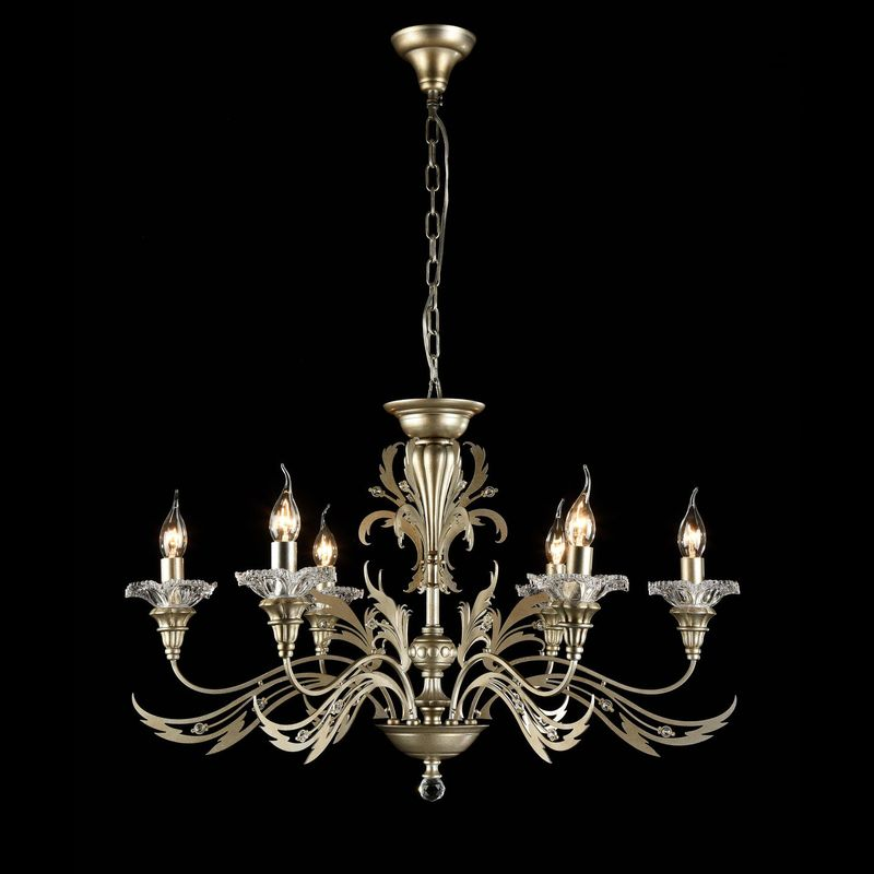 Люстра MaytoniЛюстры<br>Назначение светильника: для гостиной,<br>Стиль светильника: классика,<br>Тип: подвесная,<br>Материал светильника: металл, стекло,<br>Материал арматуры: металл,<br>Диаметр: 760,<br>Высота: 480,<br>Количество ламп: 6,<br>Тип лампы: накаливания,<br>Мощность: 60,<br>Патрон: Е14,<br>Цвет арматуры: золото,<br>Коллекция: h108<br>