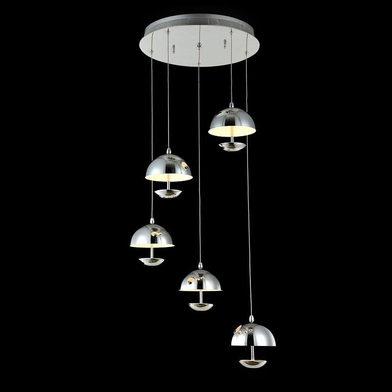 Люстра MaytoniЛюстры<br>Назначение светильника: для гостиной, Стиль светильника: модерн, Тип: потолочная, Материал светильника: металл, Материал арматуры: металл, Диаметр: 440, Высота: 175, Количество ламп: 5, Тип лампы: светодиодная, Мощность: 4.8, Патрон: LED, Цвет арматуры: никель, Родина бренда: Германия, Коллекция: mod209<br>