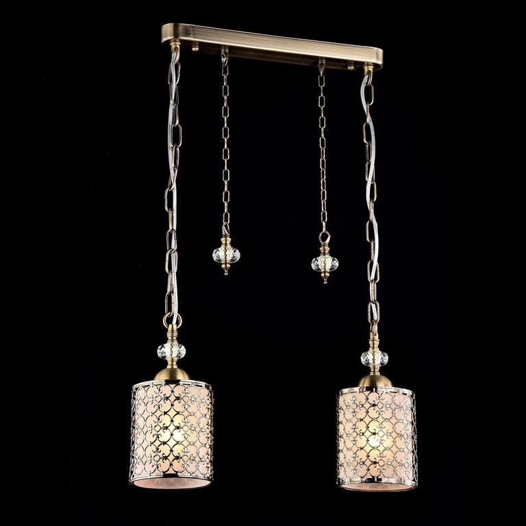 Светильник подвесной MaytoniСветильники подвесные<br>Количество ламп: 2,<br>Мощность: 60,<br>Назначение светильника: для гостиной,<br>Стиль светильника: модерн,<br>Материал светильника: металл, стекло,<br>Диаметр: 430,<br>Высота: 250,<br>Тип лампы: накаливания,<br>Патрон: Е14,<br>Цвет арматуры: бронза,<br>Коллекция: f016<br>