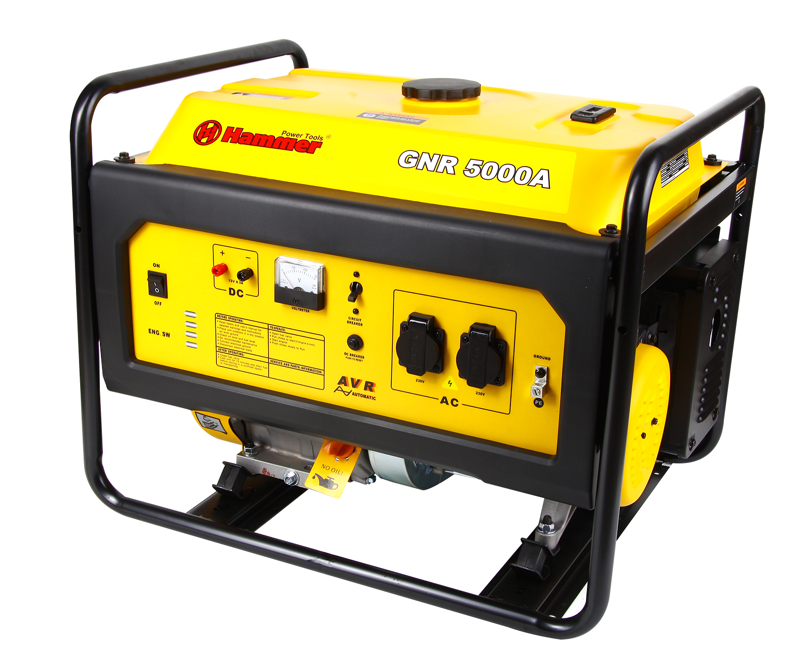 Бензиновый генератор Hammer Gnr5000 а бензиновый