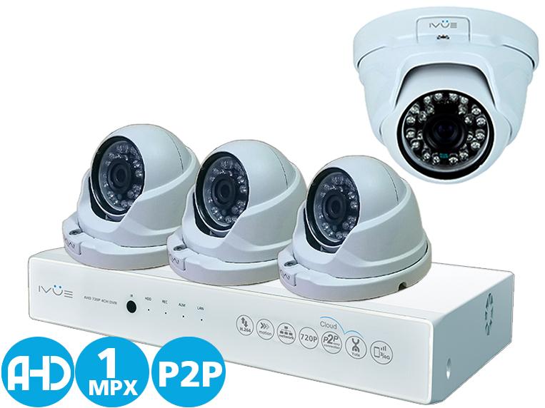 Комплект видеонаблюдения IvueСистемы видеонаблюдения<br>Тип: комплект видеонаблюдения,<br>Назначение: видеонаблюдение,<br>Разрешение видео, пикс.: 1280x720,<br>Количество каналов видео: 2,<br>Порты: RJ-45 разъём 10/100Мбит/с, RS-485 1,<br>Режимы: ручная, по расписанию, по движению, сенсор,<br>Макс. температура: 50,<br>Совместимость с мобильными телефонами: есть,<br>Камер в комплекте: 4,<br>Вес нетто: 0.2,<br>Страна происхождения: Китай<br>