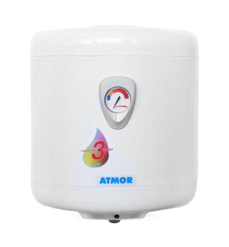 Водонагреватель AtmorВодонагреватели накопительные<br>Тип нагрева: прямой,<br>Тип: вертикальный,<br>Бак: 50,<br>Макс. температура нагрева воды: 75,<br>Тип установки: настенный,<br>Размеры: 532х370х407,<br>Внутреннее покрытие бака: стеклокерамика,<br>Количество ТЭНов: 1,<br>Дисплей: стрелочный,<br>Обратный клапан: есть<br>