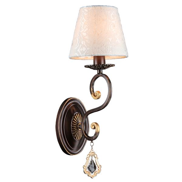 Бра Natali kovaltsevaНастенные светильники и бра<br>Тип: бра,<br>Назначение светильника: для комнаты,<br>Стиль светильника: классика,<br>Материал светильника: металл, стекло, ткань,<br>Тип лампы: накаливания,<br>Количество ламп: 1,<br>Мощность: 40,<br>Патрон: Е14,<br>Цвет арматуры: черный,<br>Длина (мм): 150,<br>Ширина: 200,<br>Высота: 420,<br>Коллекция: INTRIGUE<br>