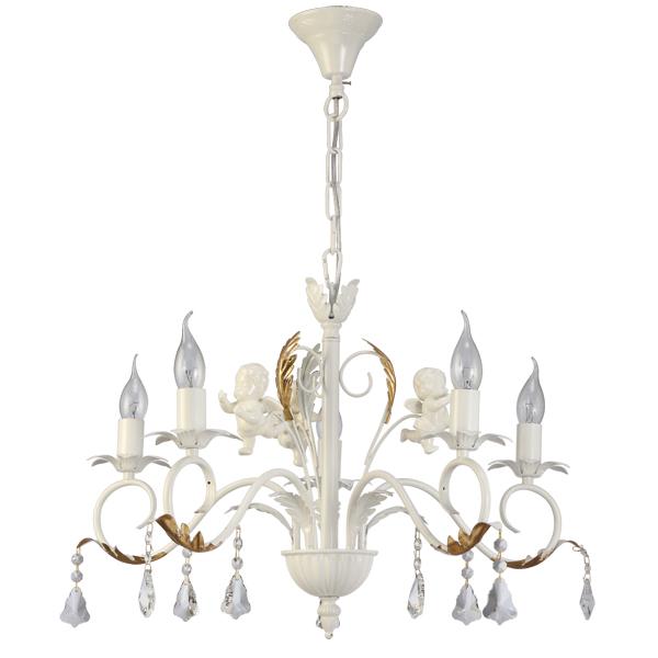 Люстра Natali kovaltsevaЛюстры<br>Назначение светильника: для гостиной,<br>Стиль светильника: классика,<br>Тип: подвесная,<br>Материал светильника: металл, хрусталь,<br>Материал арматуры: металл,<br>Диаметр: 630,<br>Высота: 430,<br>Количество ламп: 5,<br>Тип лампы: накаливания,<br>Мощность: 40,<br>Патрон: Е14,<br>Цвет арматуры: белый,<br>Коллекция: серия 27<br>